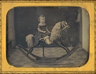 Albert Bisbee: Child on a Rocking Horse, ca. 1855