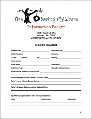 Childcare Packet Image